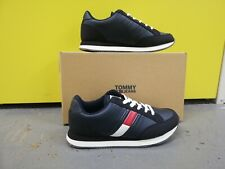 Tommy Hilfiger jeans Womens Blue Leather Navy trainers Uk 5 Eu 38 RRP £85.00