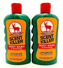 2 WILDLIFE RESEARCH CENTER SUPER CHARGED SCENT KILLER BODY WASH & SHAMPOO 12oz
