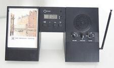 Radio - Réveil Rowenta desk line noir - très vintage - emplacement pour photo