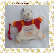 Doudou Marionnette Souris Ballon Beige Mauve Orange Poche Doudou Et Compagnie