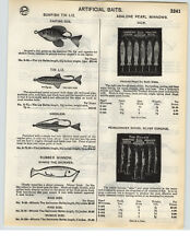 1935 PAPER AD Sunfish Tin Liz Heddon's Musky Vamp Fishing Lure Zig Wag SOS Crab