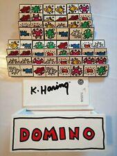 Domino k haring 1993 vilac France numérotés Jeu ancien bois jouet collection