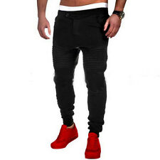 Mens Sport Pants Long Trousers Tracksuit Plain Workout Joggers Sweatpants S-3XL
