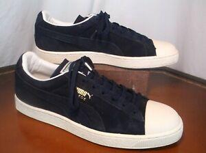 Puma Dark Blue Suede Casual Lace Up Sneakers Men's Sz. 11.5 M