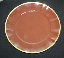 Anna Weatherley Dinnerware Charger Plate Chocolate/gold Trim