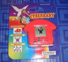 Cyber Baby Keychain Electronic Handheld Travel Game Keychain CE Red NEW
