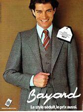PUBLICITE ADVERTISING 0217  1978  costume homme pure laine woolmark Bayard