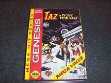 TAZ IN ESCAPE FROM MARS- SEGA GENESIS 1997 ORIGINAL-CIB-TESTED