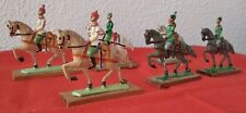 BRITISH VINTAGE LEAD HORSE AND RIDER  3 REGIMENTS 6 SOLDIERS HAND PAINTED