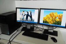 "Dell Optiplex 990 Intel Core i7 3.40GHz 320GB 8GB DVD±RW Wi-Fi Dual 19"" Monitor"