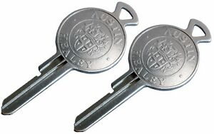 TWO (2) Austin - Healey crested FP Keys