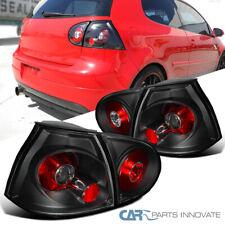 For VW 06-09 Golf Mk5 GTI Rabbit R32 Black Tail Lights Brake Rear Parking Lamps