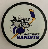 BALTIMORE BANDITS VINTAGE AMERICAN HOCKEY LEAGUE Made In SLOVAKIA VEGUM PUCK