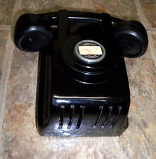 Vintage North Electric, Telephone Phone St. Line Ringer GALION OHIO Black