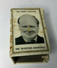 More details for wwii home front winston churchill propaganda  matchbox cover metal & celluloid