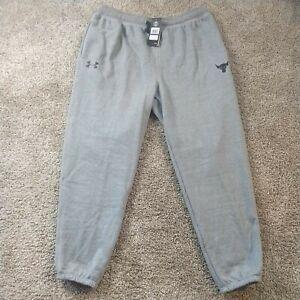 Under Armour Project Rock UA Mens Warm Up Fleece Sweatpants Size XL 1346068-011