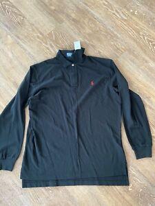 Polo Ralph Lauren Men Slim Fit Long Sleeve Polo RRP £75 BNWT