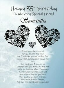 PERSONALISED Birthday Special Friend A5 Card Friendship Best Friend With Love