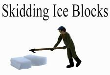 Ice Dock Worker skidding ice blocks.S Scale Finsihed Figure