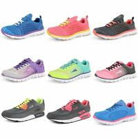 Ladies Sports Trainers Womens Breathable Walking Running Gym Fashion Lace Shoes