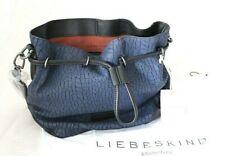 WOW LIEBESKIND Berlin Tasche Bucketbag Schultertasche blau Leder dry clay NEU T2