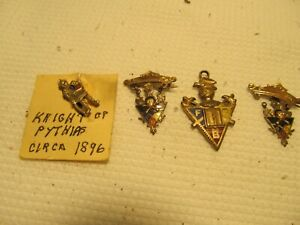 Vintage Knights of Pythias FBC Skull & Crossbones Pin-Knight  Pendent