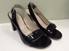 TALBOTS sling back shoes heels womens size 7 black patent leather 3.5 inch heel