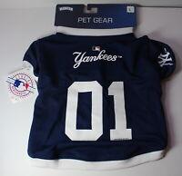 "New York NY Yankees Large 16-17"" Length Dog Pet Jersey NEW"
