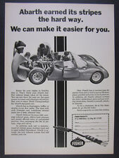 1969 Fiat Abarth race car photo Abarth Exhaust Systems vintage print Ad