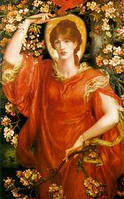 A Vision of Fiammetta by Dante Gabriel Rossetti Canvas Giclee Poster Print