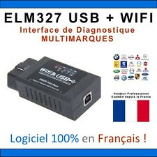 Interface DIAGNOSTIQUE ELM327 USB + WIFI - MULTIMARQUES - IPHONE ANDROID VAG-COM