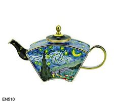 KELVIN CHEN Enamel Mini Miniature Hand Paint Copper Teapot Starry Night VAN GOGH
