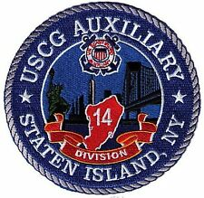 Staten Island Auxiliary Division 14  W5344 USCG Coast Guard patch Statue Liberty