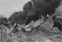 WWII B&W Photo P-51 Mustang Crashed Iwo Jima  WW2 World War Two  USAAF /5081