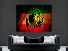 Rasta Lion Giamaica Muro Art Immagine grande POSTER GIGANTE