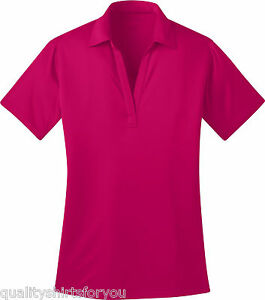Port Authority Ladies Silk Touch Dri-Fit Golf Polo Shirt Size XS-4XL NEW L540