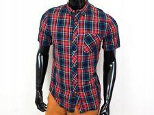 *G TopMan Mens Shirt Short Sleeve Checks size M