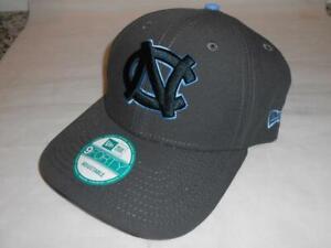 New North Carolina Tar Heels Steel Gray New Era 9Forty Adjustable Hat golf B90
