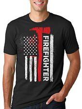 American Firefighter T-Shirt US Flag Tee Shirt