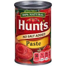 Hunts No Salt Added Tomato Paste 6 Oz.Food Meal Solutions Grains Pasta Spaghetti