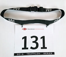 Triathlon Race Number Belt - Pro Tri Race Belt - Black