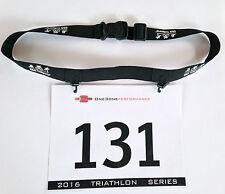 Triathlon Race Number Belt - Pro Tri Race Belt - Black