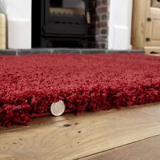 Small Modern 5cm High Pile Red Thick Non Shedding Premium Shaggy Rug 80x150cm