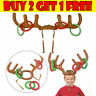Christmas Party Game Inflatable Reindeer Antler Hat Ring Toss Toy Gift for Kids