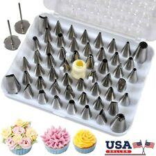 52 Pcs Icing Piping Tips Set Cake Frosting Decorating Nozzles Sugarcraft Pastry