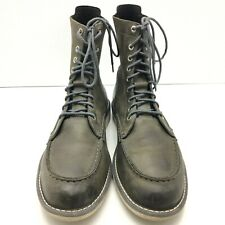 Timberland's Mens Earthkeepers City Escape Gray Leather Moc Toe Boots US 10.5 M