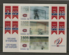 CANADA 2340a-d MONTREAL CANADIENS $3 souvenir sheet 500th goals gifs