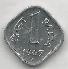INDIA, REPUBLIC,1967(B), (BOMBAY), PAISA, ALUMINUM, KM#10.1, BRILLIANT UNC.
