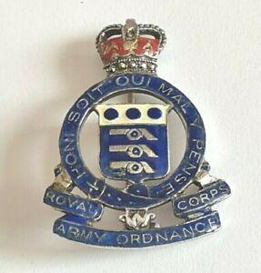 Royal Army Ordinance Corps-Silver & Enamel-Badge