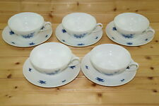 "Rosenthal Rhapsody Blue (5) Cups, 2"" & (5) Saucers, 6 1/4"""
